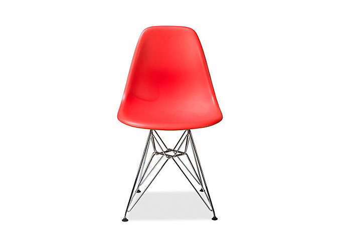 Eames-Molded-Plastic-Chair-with-Wire-Base-Red-Remodelista