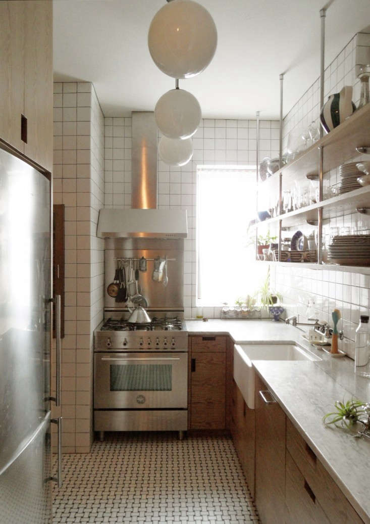 above after nixing the idea of opening up the kitchen to the dining roomit just didnt work with the prewar apartment layout says wegelshe transformed - Galley Apartment 2015