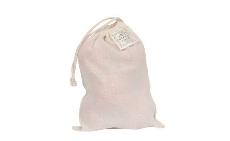 EcoBags Drawstring Cotton Produce Bags, Remodelista