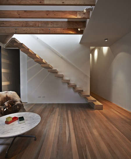 Edwards Moore Lightbox House with Wood Staircase, Remodelista