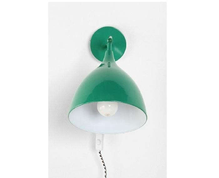 Emerald-green-industrial-sconce-urban-outfitters-Remodelista