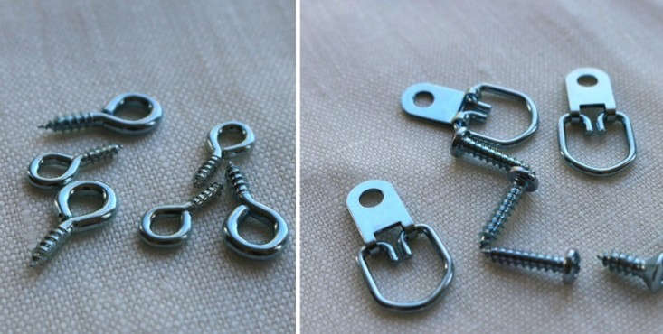 Eye-screws-and-d-rings-for-DIY-custom-framing-remodelista