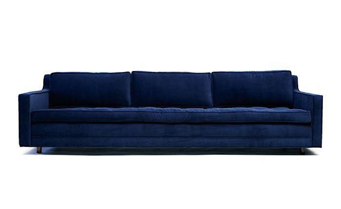 10 Easy Pieces The Blue Velvet Sofa Luxe Edition
