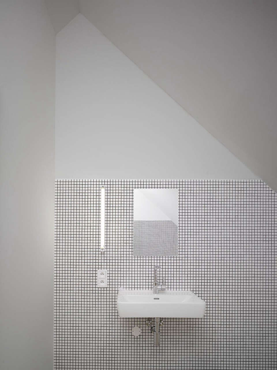 Family-House-Kloko?ná-Prague-Studio-pha-white-tiled bathroom-Remodelista