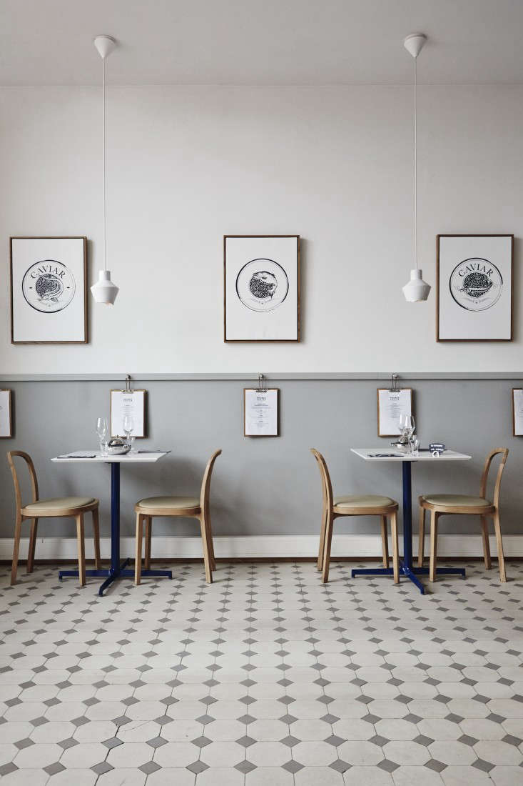 A caviar bar in finland with wintry palette remodelista