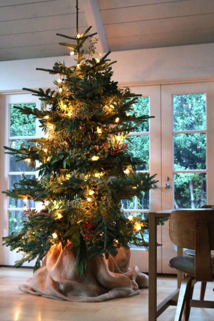 Foraged Christmas Tree at Home, Remodelista