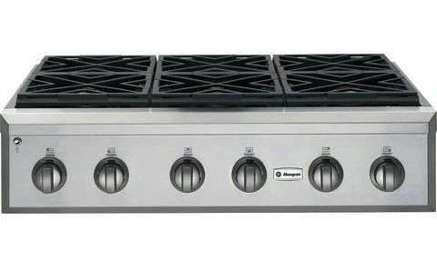 GE Monogram professional rangetop with six gas burners, Remodelista