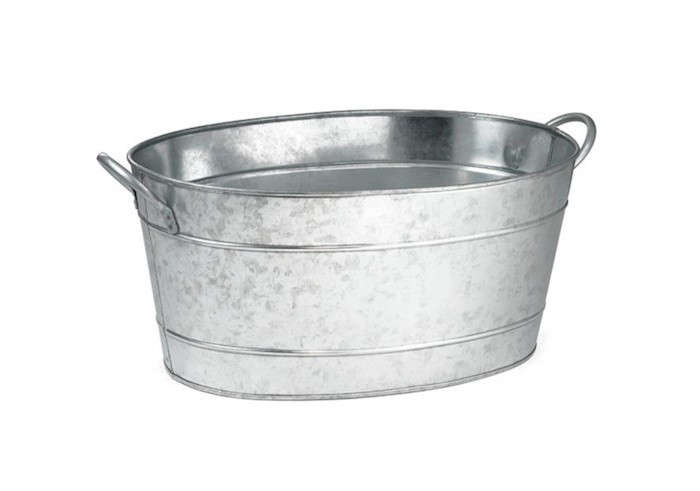 Galvanized-Oval Tub-by-Dover-Parkersburg-Remodelista
