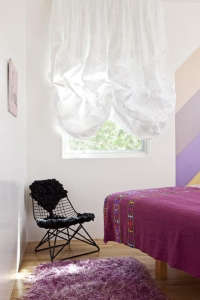 Alexandra Loew Guest Bedroom in Pink and Purple, Remodelista