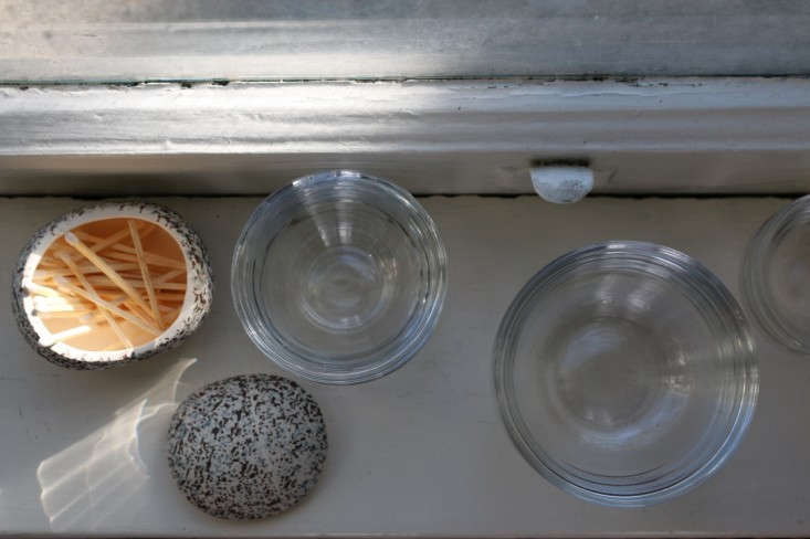Glass Bowls and Matches on Windowsill in Sunlight, Remodelista