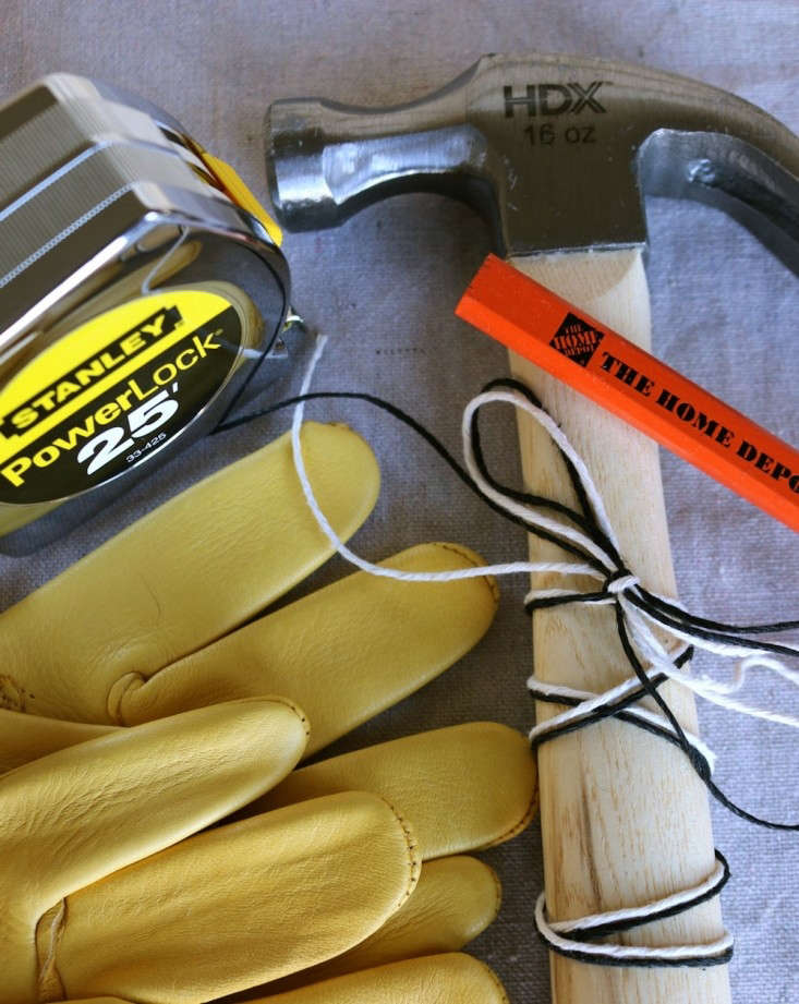 Gloves, Measuring Tape, Pencils, Hammer, Remodelista