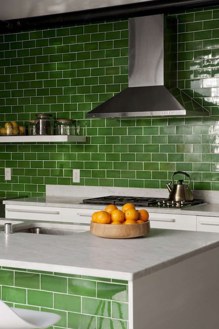 Green Tiled Kitchen by DISC Interiors, Remodelista