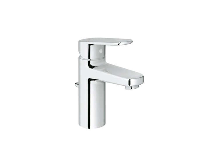 Grohe-Starlight-Chrome-Europlus-Single-Hole-Bathroom-Faucet-with-SilkMove-Technology