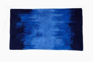 Habidecor Bath Mat in Blue Streaks from Art-Object | Remodelista