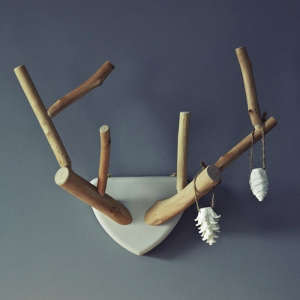 Hand Carved Lime Wood Antlers from Rowen & Wren | Remodelista