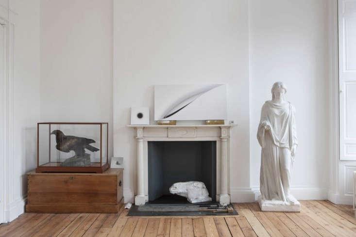 Helen-Lucas-Architects-Alison-Watts-Studio-mantlepiece-Angus-Bremner-Remodelista