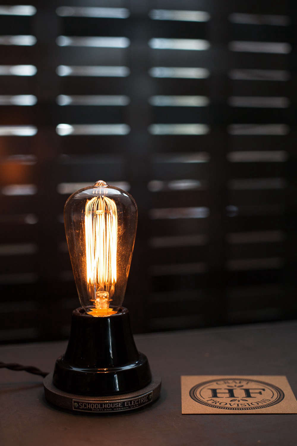 Hock Farm Restaurant with Schoolhouse Electric Lamp