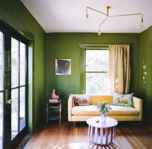 House Call with Los Angeles Jeweler Kathleen Whitaker, Echo Park, Apple Green Room | Remodelista