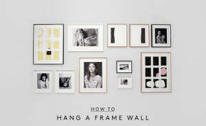 How to Hang a Picture Frame Wall DIY Video from Country Road | Remodelista