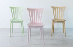 Ikea Bråkig Limited Edition Collection Pastel Dining Chairs | Remodelista