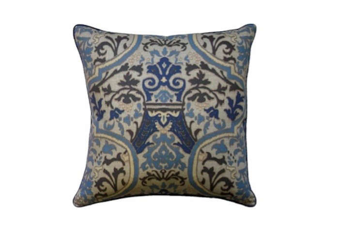 Indigo and Cream pillow on Remodelista