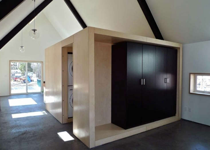 Interior of Small Home with Economical Design of Storage and Laundry, Remodelista
