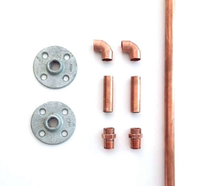 copper pipe shower curtain rod