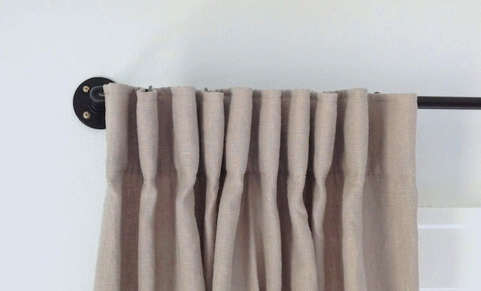 diy how to make a copper pipe curtain rod for 35 remodelista. Black Bedroom Furniture Sets. Home Design Ideas