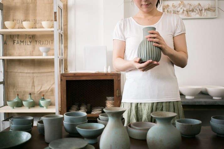 Japanese-matcha-party-green-ceramics