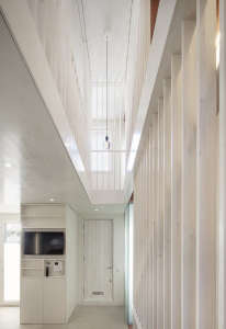Jonathan Tuckey, Submariner's House, white entry hall, London | Remodelista