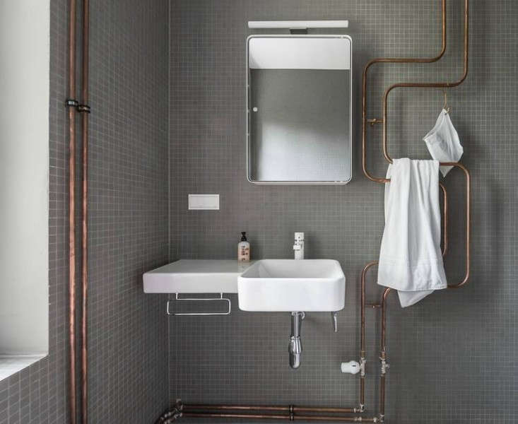 Remodeling 101 towel warmers remodelista for Copper pipe shower