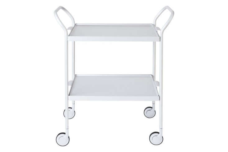 Kaymet-Modern-Trolley-Two-Tier-Silver-from-Clippings-Remodelista