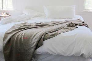 Khaki Heavy Weight Linen Throw from Spartan | Remodelista
