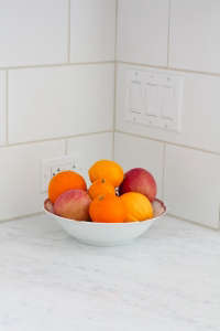 Outsized subway tiles in Barbara Bestor kitchen, Remodelista