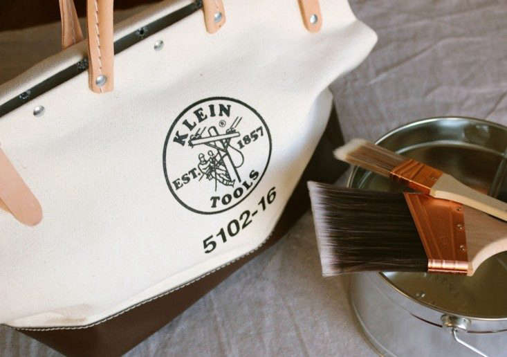Klein Tools Canvas Bag and Paintbrushes, Remodelista