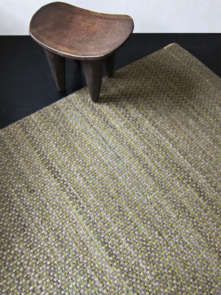L'Aviva-Home-Crin-Rug-Collection-green-leaether-Remodelista-1