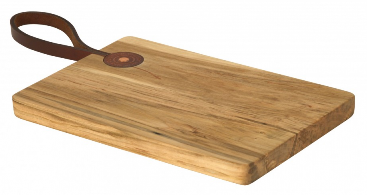 Leather Strap Cutting Board from Jayson Home, Remodelista