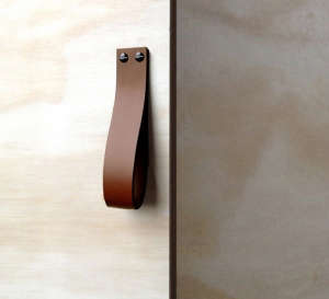 Leather Loop in Saddle Tan from Made Measure I Remodelista