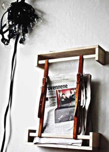 Leather Strap Diy Magazine Wall Holder I Remodelista