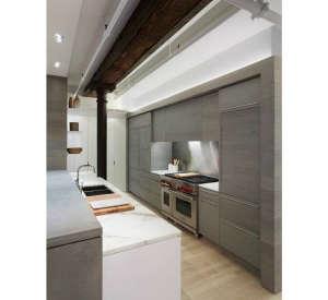 Leone Design Studio Meatpacking Loft Concrete Counter, Remodelista