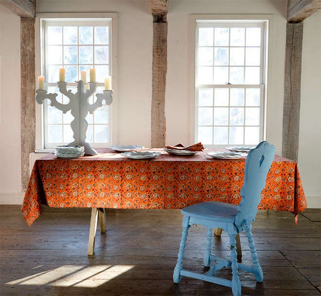 Les-Indiennes-tablecloth-Kalamkari-collection-Remodelista