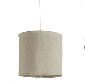 Linen Pendant Lamp from CB2 I Remodelista