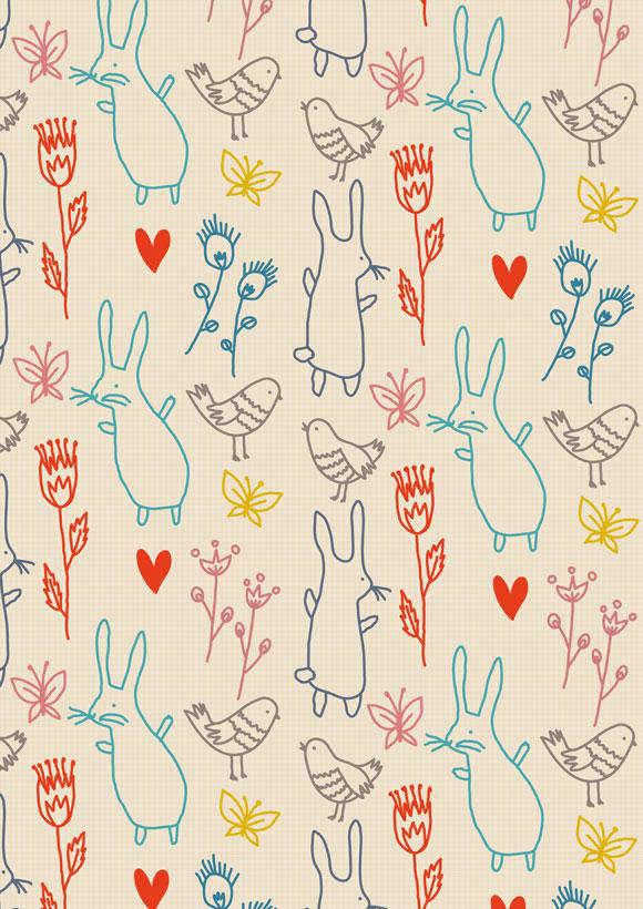 Summer Rabbits Wallpaper Remodelista
