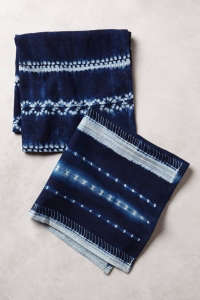 Lost & Found-Anthropologie shibori napkin | Remodelista