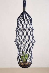 Lost & Found for Anthropologie Macrame Planter | Remodelista