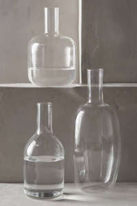 Lost & Found-Anthropologie glass bottle| Remodelista
