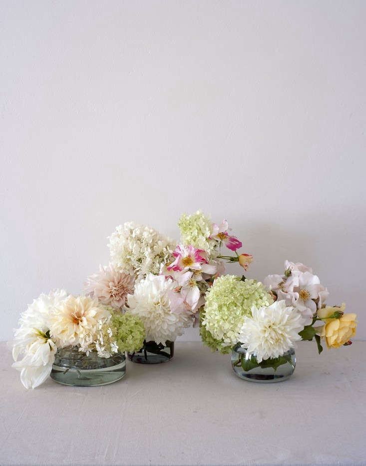 Louesa-Roebuck-crysanthemum-flower-in-glass-vases