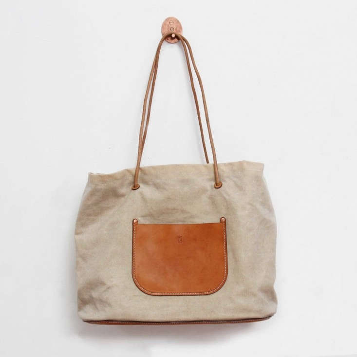 MCrow-waxed-canvas-tote-Remodelista