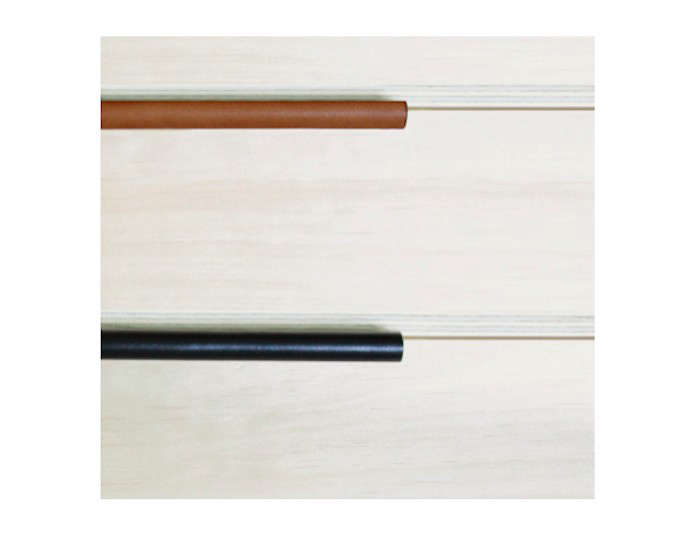 Made Measure Recessed Pulls in Saddle-Tan and Black I Remodelista09