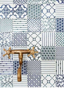 Made a Mano Patchwork Tiled Backsplash | Remodelista